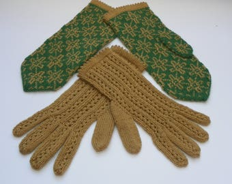Patterned mittens Patterned gloves Knit mittens Kint gloves Knitted mittens Knitted gloves Mittens  and gloves set Wonen's mittens