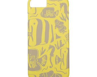 Tropical Fish Tank Gold/Yellow iPhone 7 Case