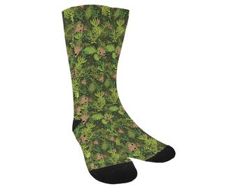 Baby Groot Socks - Knee High Socks Guardians of the Galaxy Socks Cosplay Socks Comicon Socks Sci-Fi Socks Comic Book Socks Groot Socks