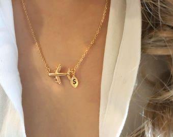Delicate Petite Airplane Necklaces, Love Airplane necklace,cute necklace,unique necklace,Tiny Necklace ,Bridesmaid Gift