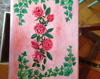 Roses Painted box