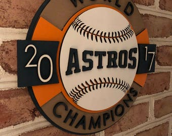 Very Rare Houston Astros limited edition 3d  wooden mancave sign unique gift!