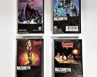 1970s  Audio Cassette Tapes Nazareth Hair Of The Dog / No Mean City Lot of 4