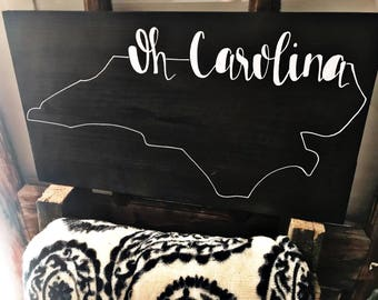 Oh Carolina | Handmade Calligraphy Sign