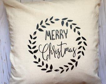 Merry Christmas Throw Pillow Cover, Christmas Throw Pillow Cover, Christmas Throw Pillow