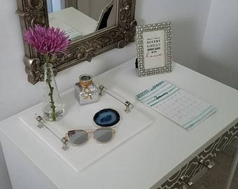 Custom Fabric Upholstered Small Desk