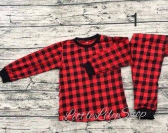 Toddler & kids Christmas pajamas pre order