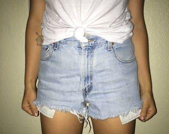 Vintage DIY Levi Denim Shorts