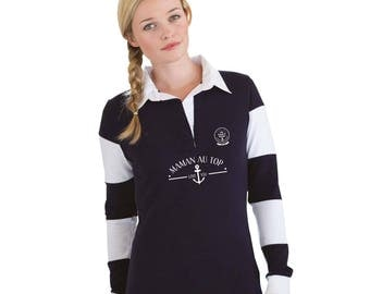"""MOM Christmas gift - Polo MOM to be personalized with your name - gift mother's day - MOM gift idea """"my mom is on top..."""""""