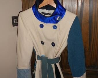 Upcycled Cream Jacket, size small