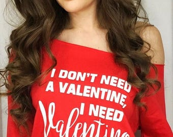 Valentine Slouchy Sweatshirt, Custom Sweatshirt, Slouchy Shirt,