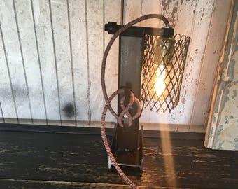 Industrial style steel table lamp