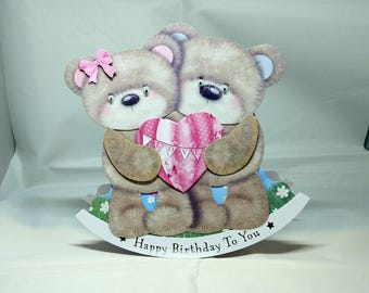 Teddy Bears 3D Wobbler Male/Female/Kids/Children's Birthday Card - luxury quality UK - Mum/Grandma/Daughter/Aunt/Niece/Sister/Wife