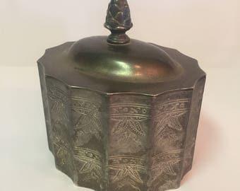 Godinger metal trinket jewelry box