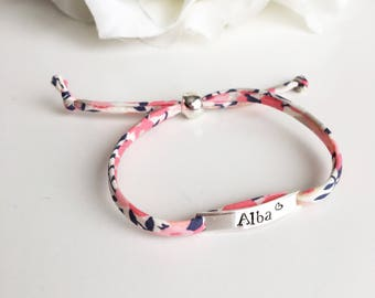 Sterling Silver Personalised Liberty Bracelet