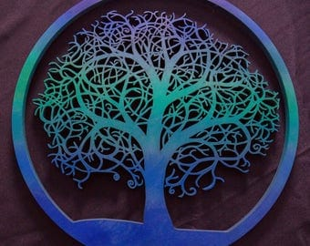 Tree of Life Wooden Wall Hanging! - Any color!