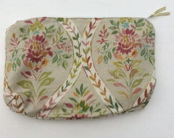 Bag for make up, zipped cosmetic bag, travel toiletry bag, practical present, hospital wash bag, good sized wash bag, cosmetic purse