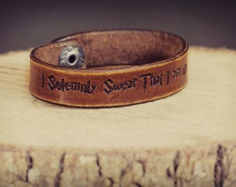 Leather Bracelet,  Engraved leather cuff,  Mens leather bracelet,  Women's leather bracelet