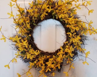 Spring wreath/ summer wreath/ front door wreath/ door wreath/ flower wreath