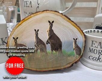 Kangaroo, Kangaroo Print, Australia, Kangaroo Art, Australian Animal, Kangaroo Pendant, Kangaroo Photo, Fiber Art Animal, Australian Gift