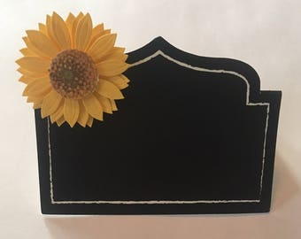 Sunflower with black blackground and handwritten names