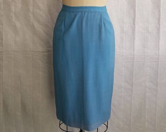 Vintage Pencil Skirt with Kick Pleat
