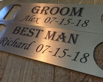 Bottle opener - personalized - Groomsman gift - wedding gift - custom - Best man gift