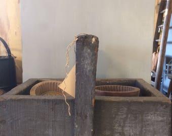 Houten bak/ wooden bin