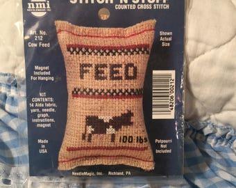 Stitch 'N Stuff counted cross stitch kit, #212 Cow Feed