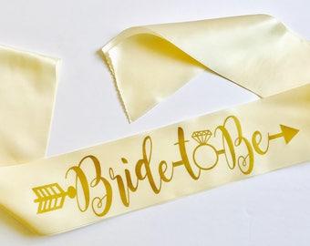 Bride-To-Be-Sash W/Ring
