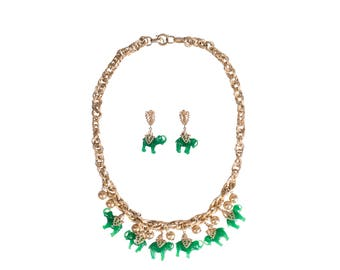 Napier jewelry necklace and earrings 50s