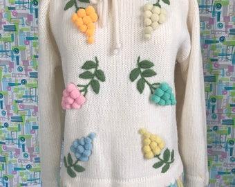 Thayer Grape Pom Pom Sweater