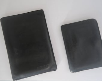Vintage Leather purse and wallet set