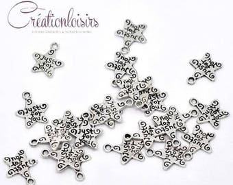 10 pendants accessory charm star Just for You