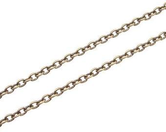 1 meter fine Chain - Maille bracelet - bronze
