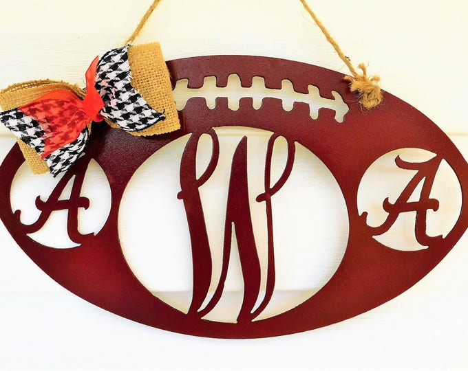 Football Door Hanger, Football Decor, Football Decorations, Alabama Crimson Tide, Alabama Wreath, Football Wreath, Fall Wreath, SEC Football
