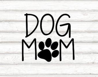 Dog Mom Decal - Dog Mom Paw Print Decal - Car Decal - Dog Mom - Laptop Decal - Bumper Sticker