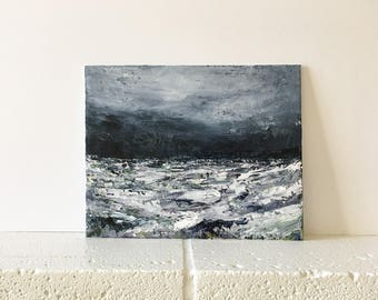 """Abstract Original Acrylic Seascape Painting """"The Odyssey"""""""