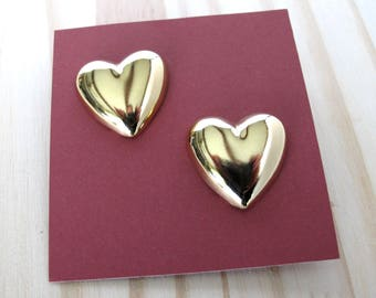 Large Heart Earrings, Vintage Valentines Jewelry