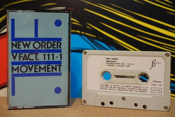 Movement (RARE Portugal Pressing) by New Order Vintage Cassette Tape