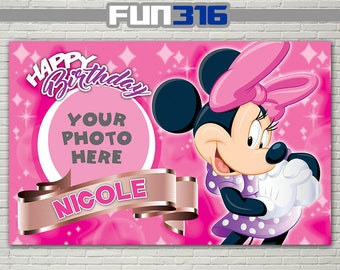 BANNER - Minnie Mouse Birthday Banner