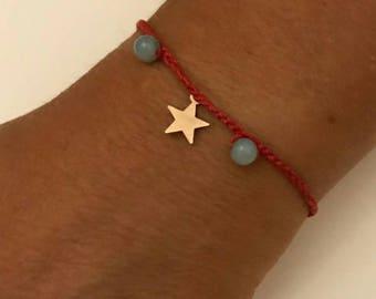 Braccciale crochet bracelet friendship Charm Red