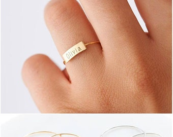 925 sterling silver ring with customizable engraving