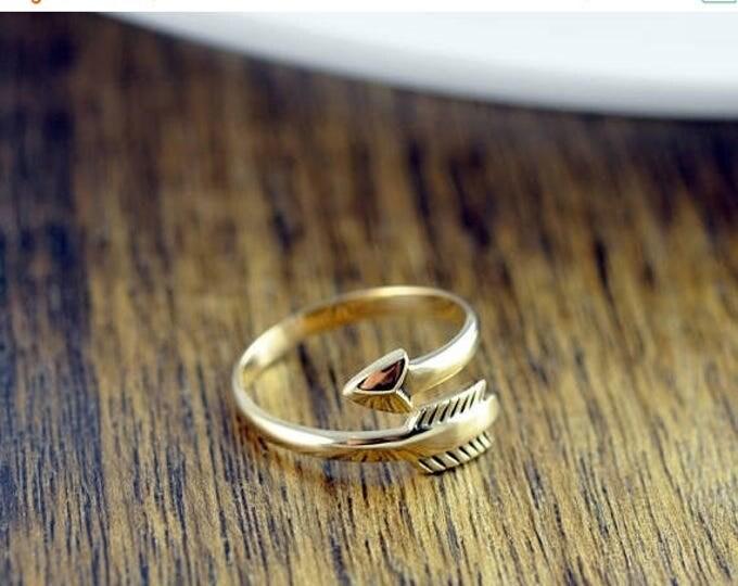 10% off SALE Gold Arrow Ring - Arrow Ring - Arrow Wrap Ring, Arrow Ring, Adjustable Arrow Ring,- Boho Ring - Arrow Jewelry - Boho Jewelry -