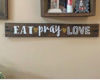 Eat love pray wall decor