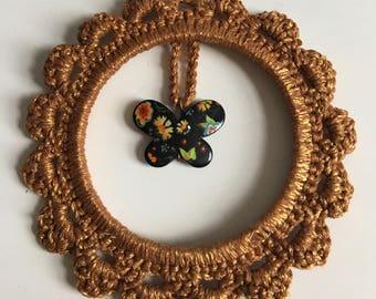 Crochet hanging decoration