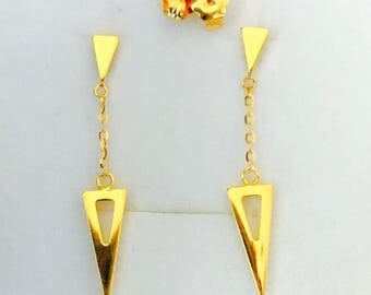 Designer Sphere dangling earrings Solid 22k gold earstuds earrings 916 gold