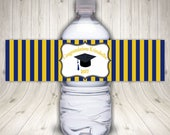 Graduation Water Bottle Labels, Class of 2018, Personalized, Graduation Labels, Graduation Party, Graduation Favors, Waterproof Labels,