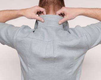 Linen shirt/flax shirt/mens linen shirts/flax clothing/mens linen shirt/business casual/slimfit