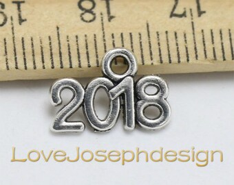 Bulk sale 100 Pieces /Lot Antique Silver Plated 13mmx9mm small 2018 charms